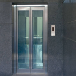 glass door with ss frame big vision