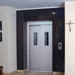 ms power coated door with vision panels