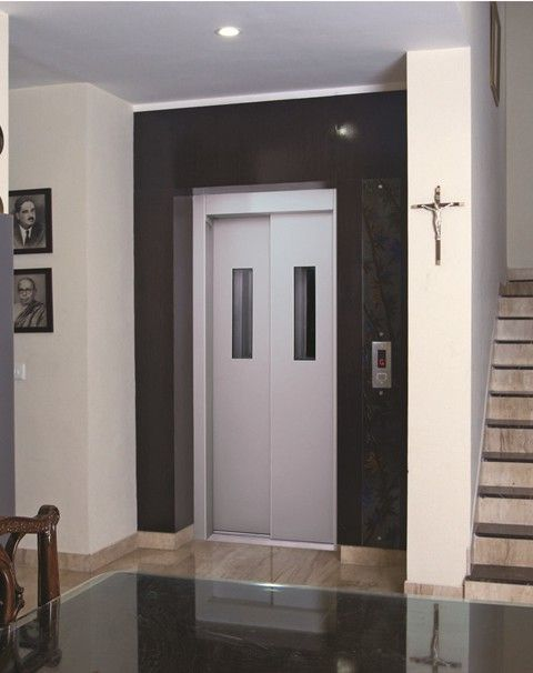 Manual lift ms power coated door with vision panels for Door vision panel